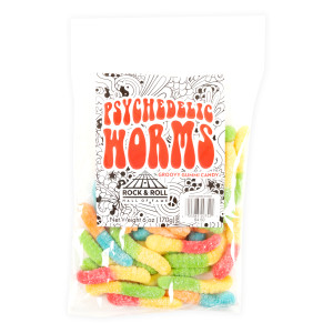 Psychedelic Worms Gummi Candy