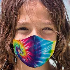 Youth Tie Dye Face Mask