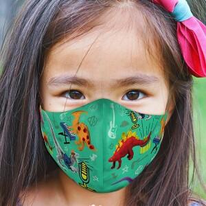 Youth Dinosaur Face Mask