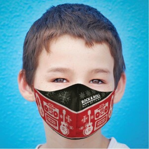Youth Holiday Sweater Face Mask