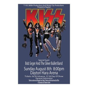 Kiss 1976 Dayton Poster