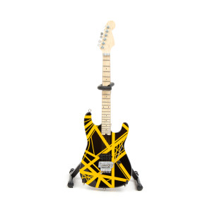 Eddie Van Halen Black & Yellow Mini Guitar