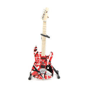 Eddie Van Halen Red & Black Mini Guitar