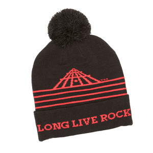 LONG LIVE ROCK POM KNIT CAP