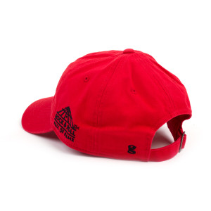 ROCK & ROLL HALL OF FAME RED TWILL CAP