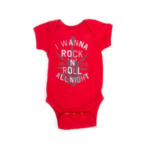 I Wanna Rock Red Romper