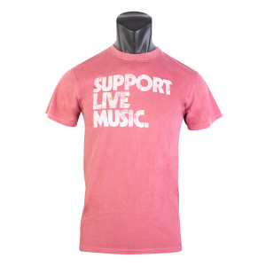 Support Live Music Red Unisex T-Shirt