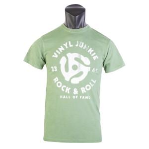 Vinyl Junkie Green Unisex T-Shirt