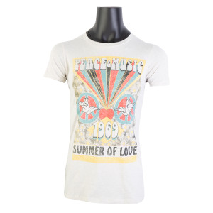 60S Peace, Love, & Music Ladies T-Shirt