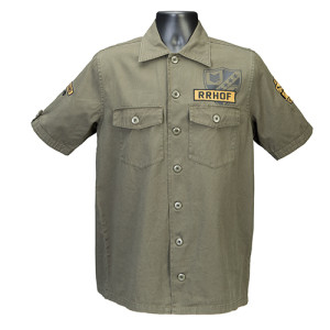 Short Sleeve Green Military Shirt