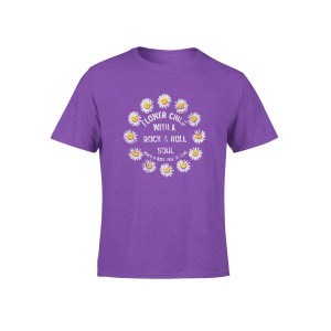 Girls Flower Child Youth Purple T-Shirt