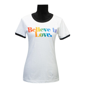Believe In Love Ladies Ringer T-Shirt