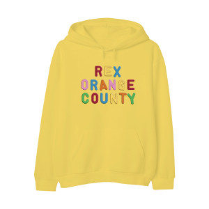Rex Orange County Embroidered Magnet Hoodie - Yellow