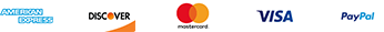 American Express - Discover - Mastercard - Visa - PayPal accepted
