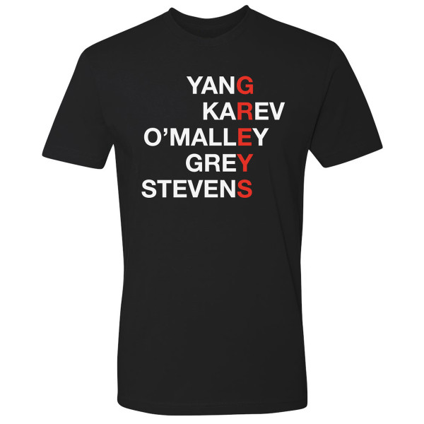 Grey S Anatomy Greys Name T Shirt Shop The Abc Official Store