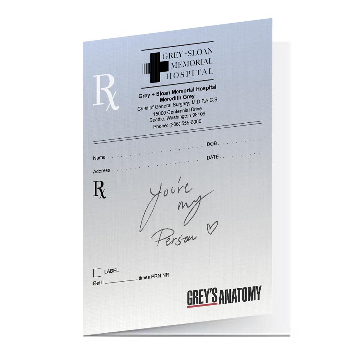 Grey's Anatomy My Person Greeting Card Set