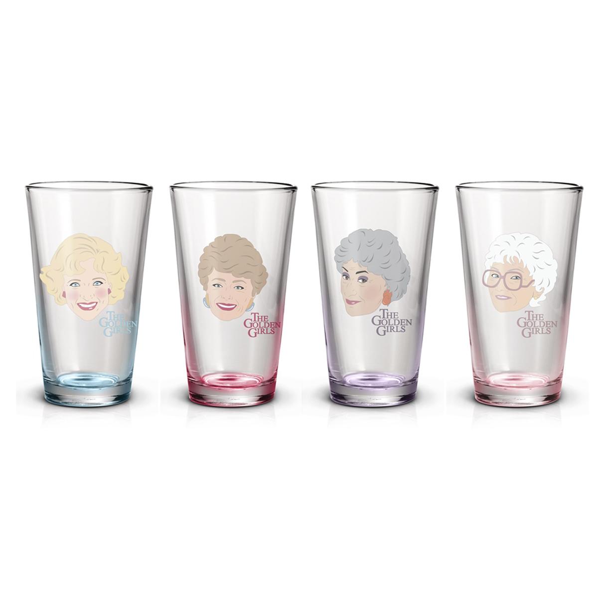 The Golden Girls Cast Pint Glasses (Set of 4)