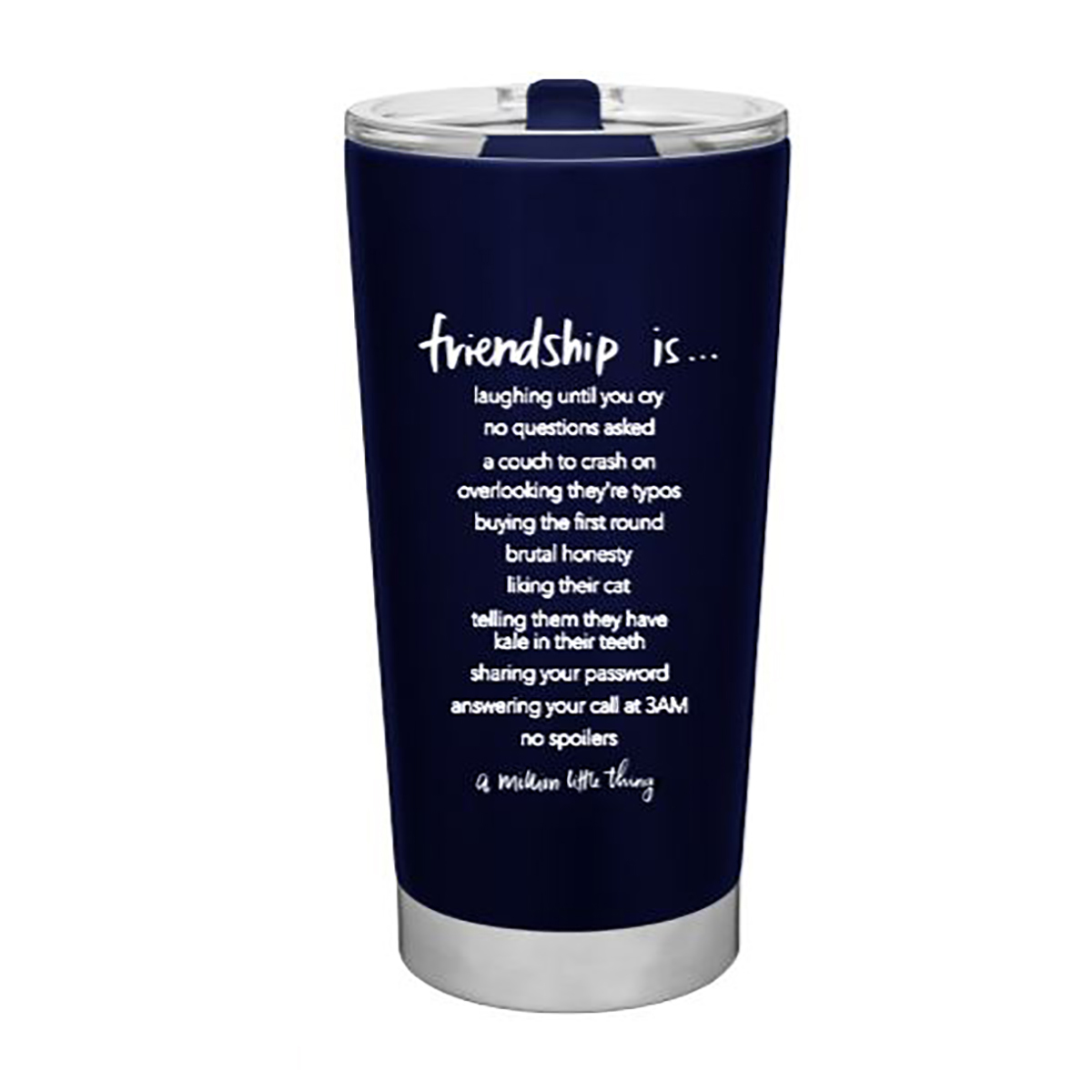 A Million Little Things Friendship Travel Tumbler