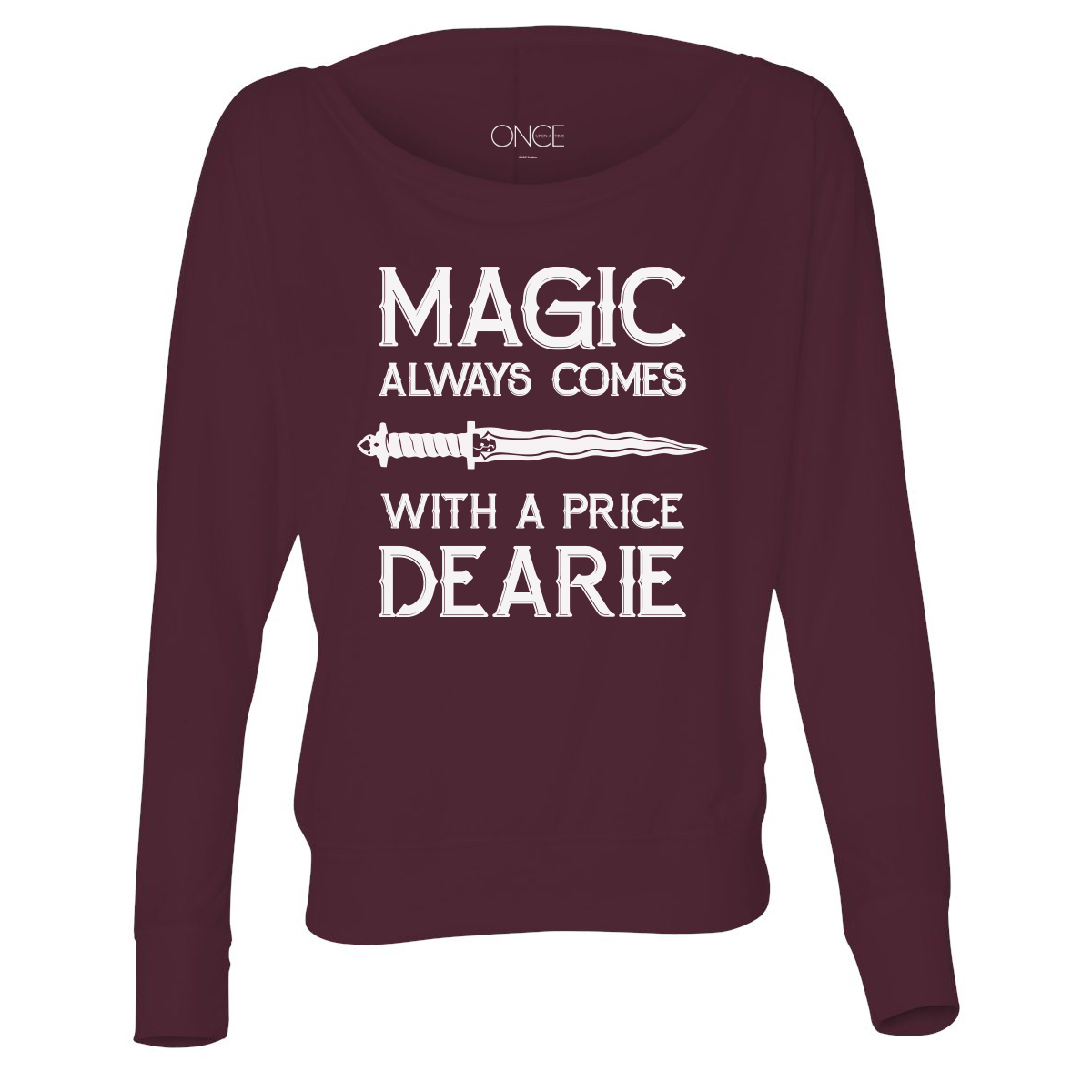 Once Upon A Time Magic Always Comes With A Price Flowy Women's Long Sleeve