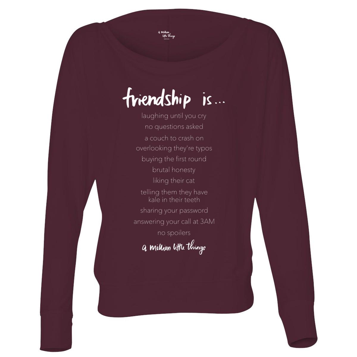 A Million Little Things Friendship Is…Women's Flowy Long Sleeve