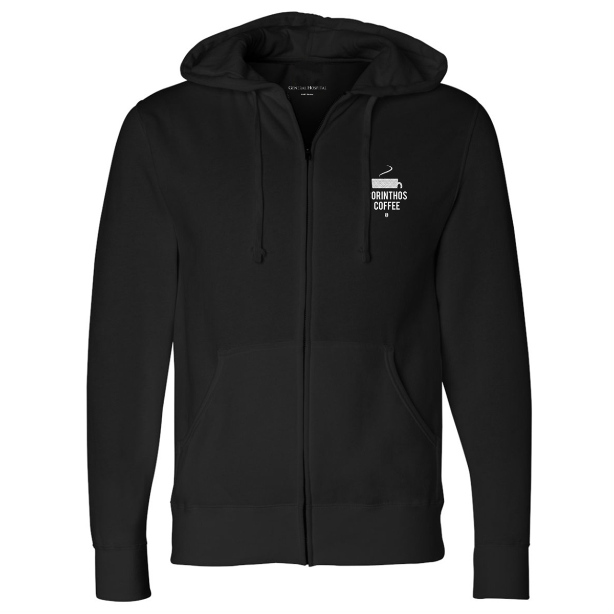 General Hospital Corinthos Coffee Zip Up Hoodie