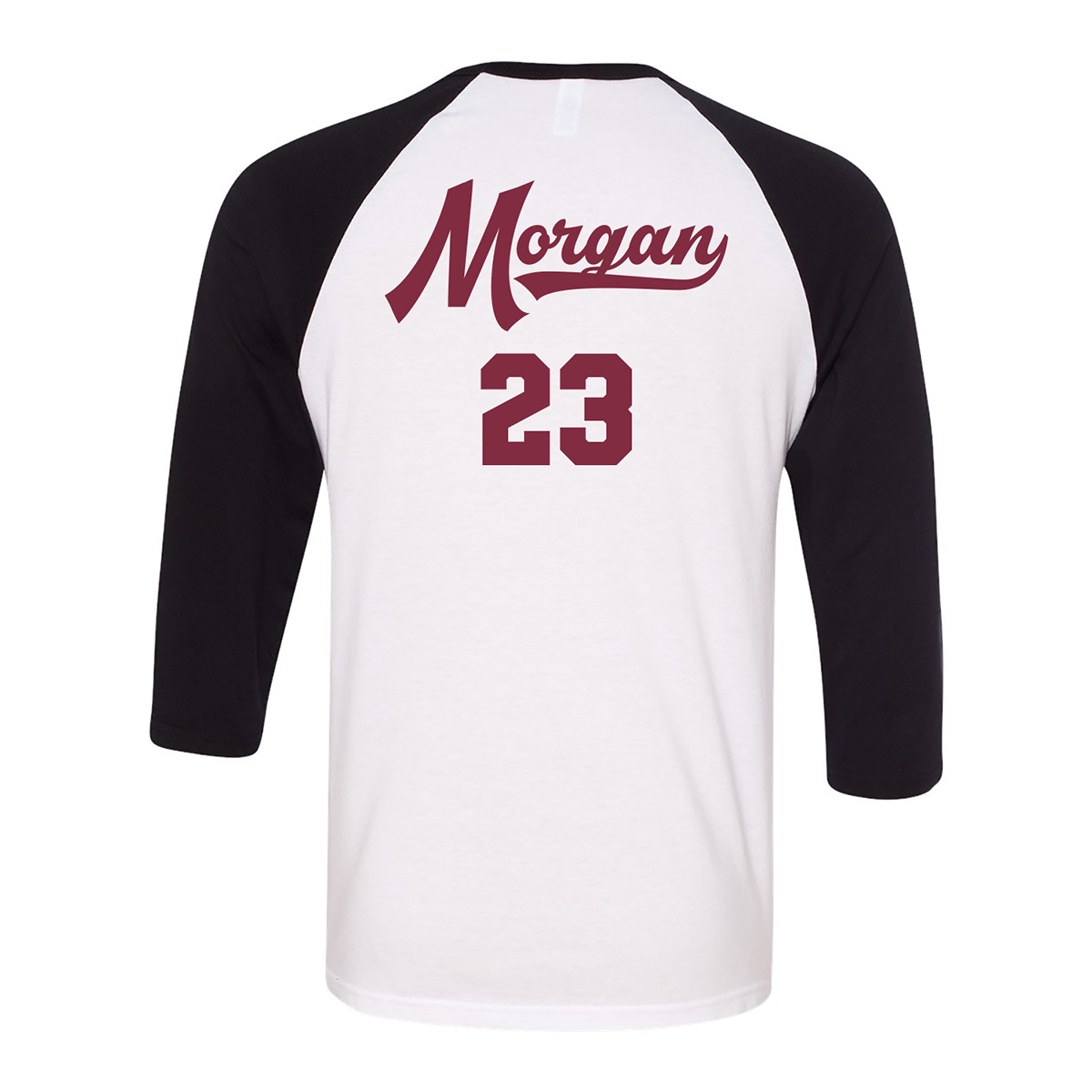 General Hospital Corinthos Raglan (White/Black)