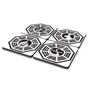 Lost Dharma Coasters (Set of 4)