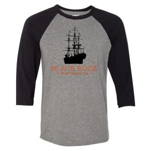 Lost Black Rock Raglan T-Shirt