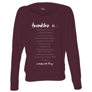 A Million Little Things Friendship Is…Women's Flowy Long Sleeve