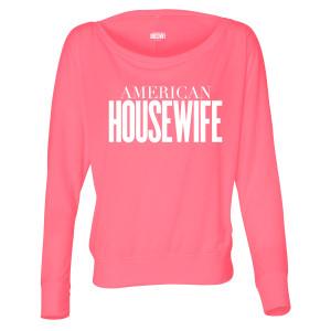 American Housewife Logo Women's Flowy Long Sleeve