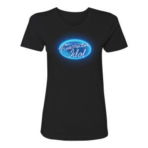 American Idol Circle Logo Women's T-Shirt (Black)