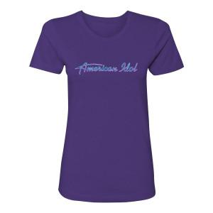 American Idol Logo Women's T-Shirt (Purple)