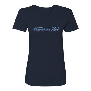 American Idol Logo Women's T-Shirt (Midnight Navy)