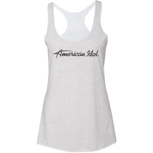 American Idol Logo Racerback Tank (Heather White)