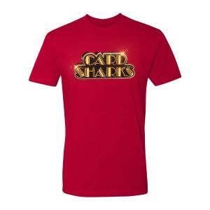 Card Sharks Shiny Logo T-Shirt (Red)