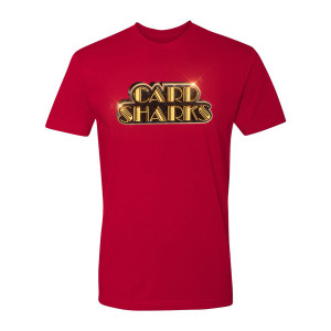 Card Sharks Shiny Logo T-Shirt (Red)