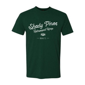 The Golden Girls Shady Pines Distressed T-Shirt (Forest Green)