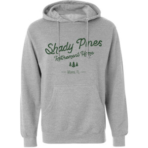 The Golden Girls Shady Pines Distressed Hoodie (Heather Grey)