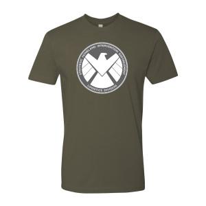 Marvel's Agents of S.H.I.E.L.D. Grey Badge T-Shirt (Military Green)