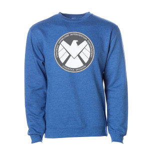 Marvel's Agents of S.H.I.E.L.D. Grey Badge Pullover (Royal Heather)