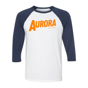 General Hospital Aurora Raglan (White/Navy)