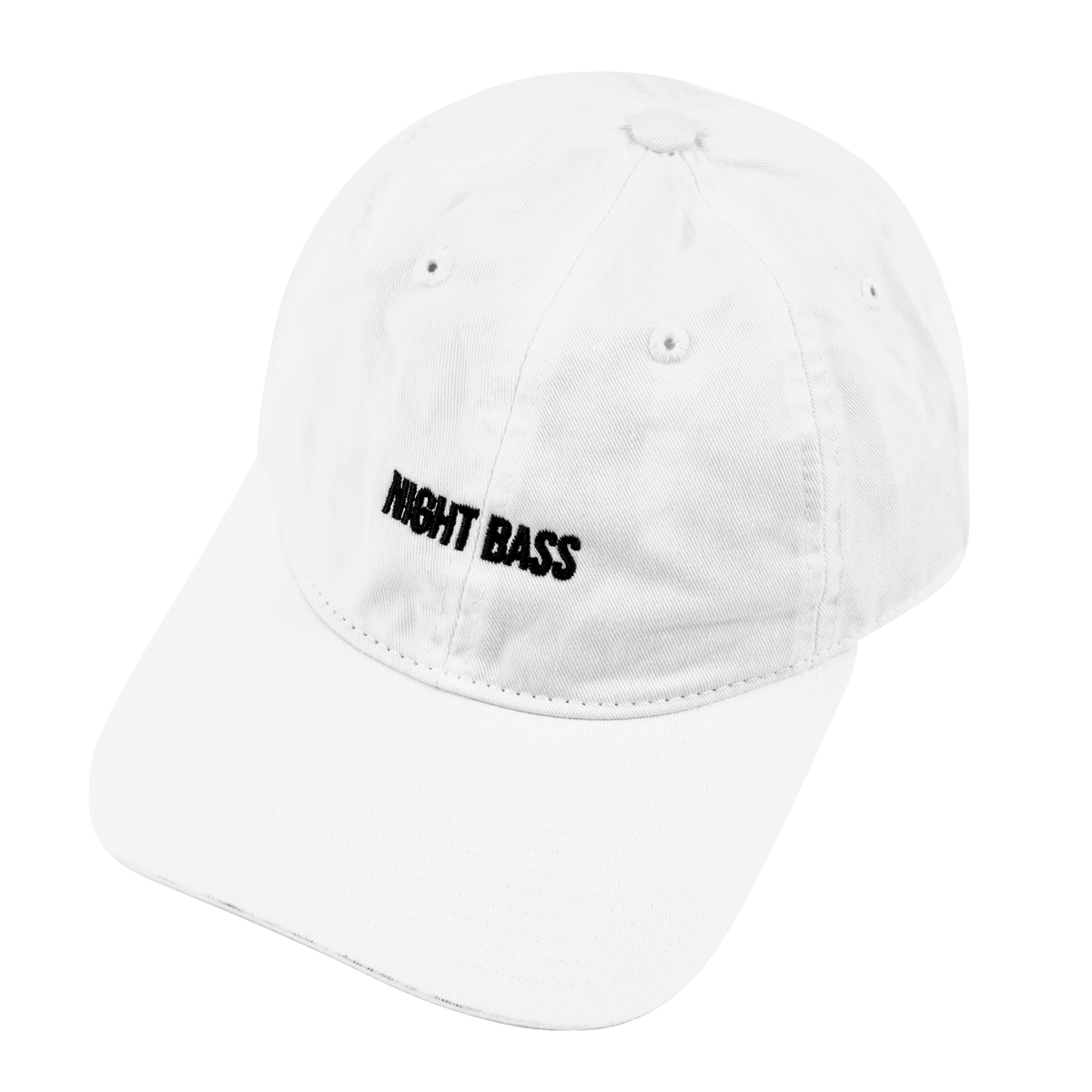 Night Bass Phases Dad Hat (White)