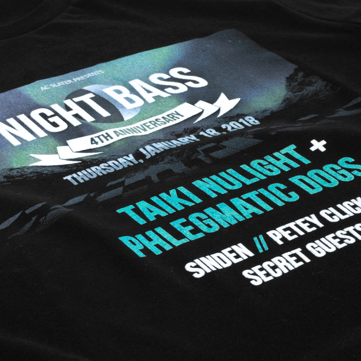 Night Bass 4 Year Anniversary T-Shirt