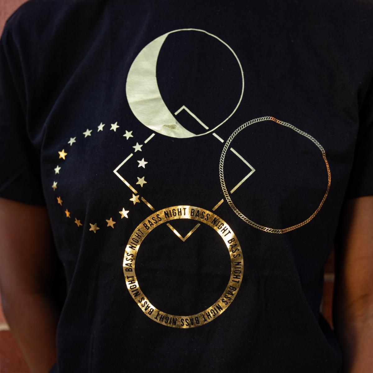 Night Bass Gold Foil Deconstructed T-Shirt