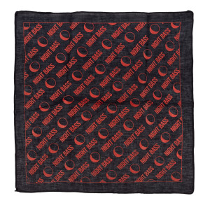All-Over Print Bandana (Black & Red)