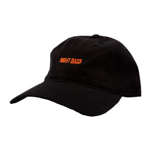Night Bass Black and Orange Dad Hat