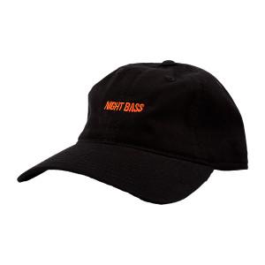 Night Bass Black and Orange Dad Hat