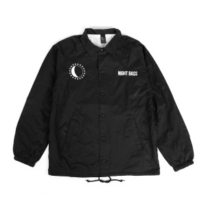 Night Bass Black Windbreaker