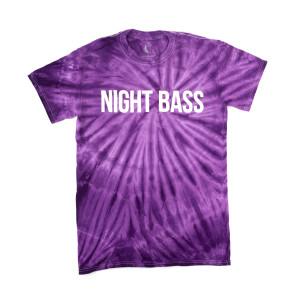 Night Bass Classic Tie Dye T-Shirt (Purple)