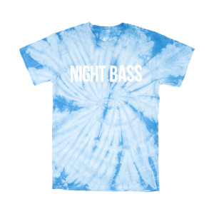 Night Bass Classic Tie Dye T-Shirt (Baby Blue)